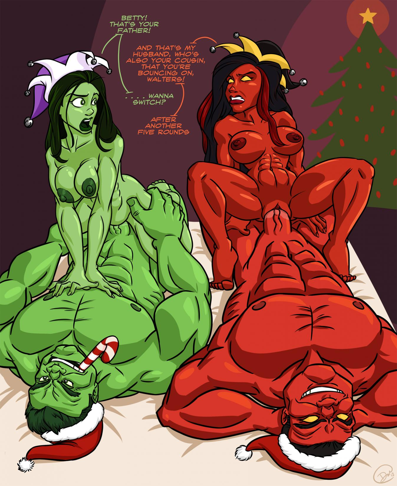 hulk she kiss hulk and If it exists there's p website