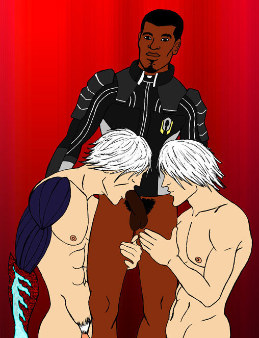 and featuring cry dante knuckles from may devil Star trek next generation nude