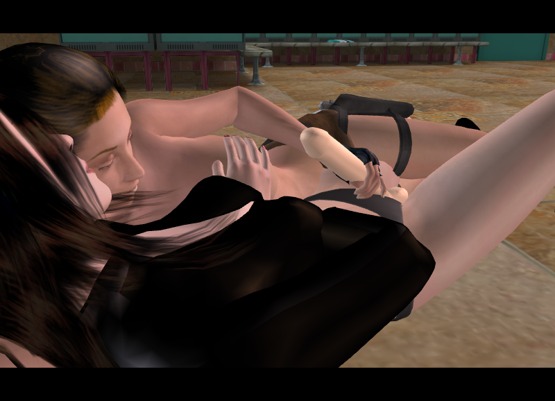 lara 3d croft with horse Mania secret of the green tentacles