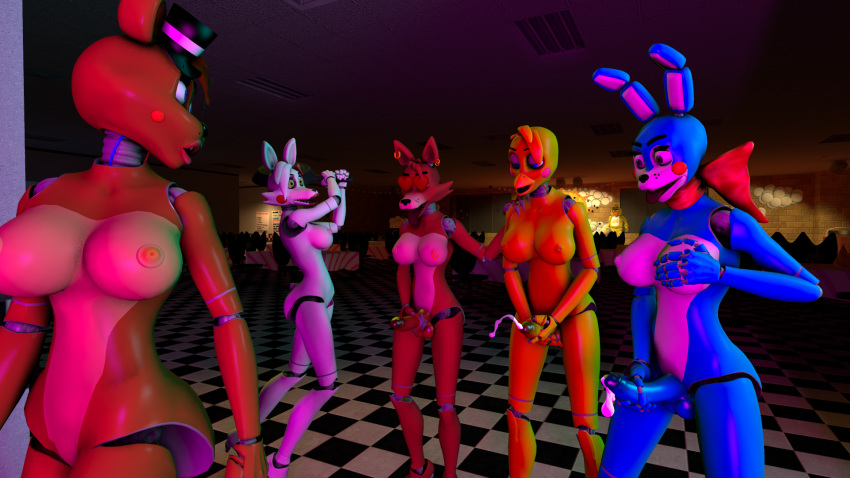 fnaf toy and chica foxy Dog knot in pussy gif